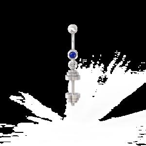 Штанга – пирсинг (с камнем)