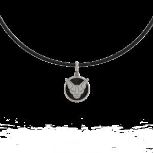 Кошка-сфинкс – кулон (с эмалью)