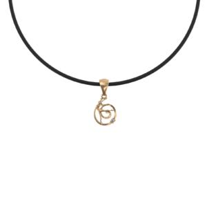 Гимнастка с лентой – кулон золотой