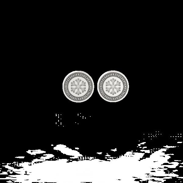 ХК Сибирь – серьги-пусеты (без эмали)